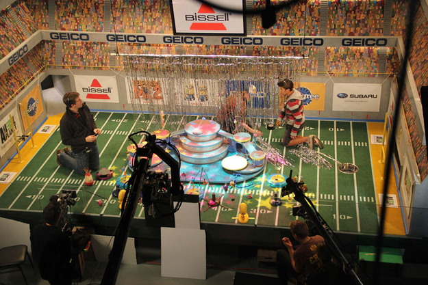 And when the stage got outfitted with extra-fun halftime insanity.