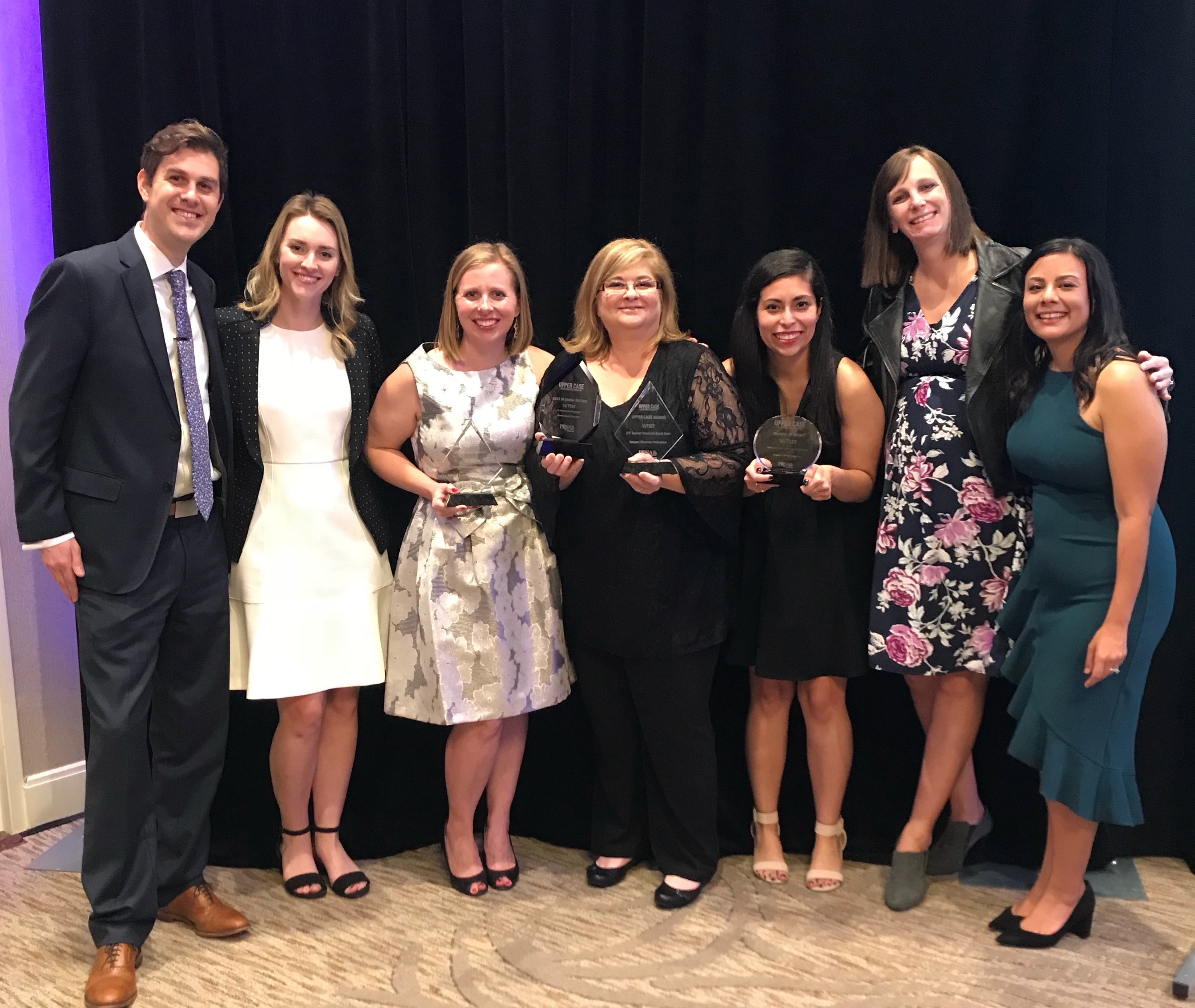 VI team with awards