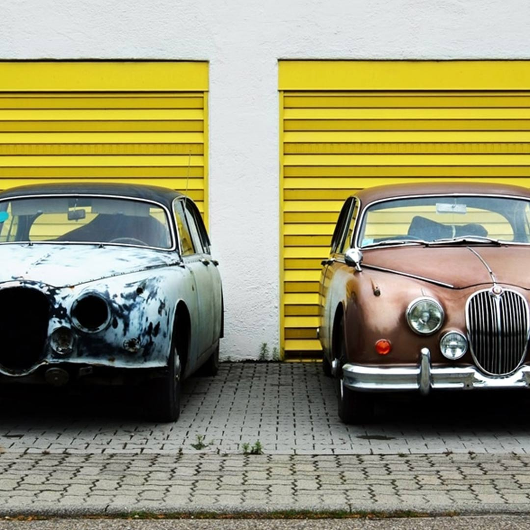 Two old cars