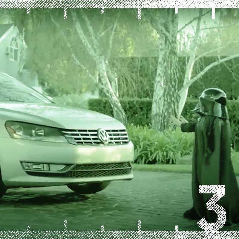 "Volkswagon ""User the Force"" Darth Vader kid Super Bowl Commercial"