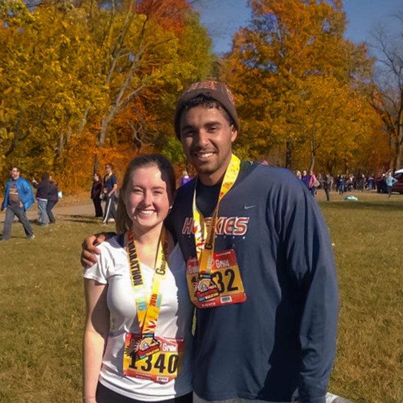 SEO Coordinator Sara Naatz finishes half marathon