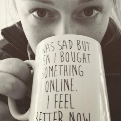 Girl Drinking Coffee Reading 2016 Marketing Predictions