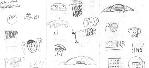 Popins Umbrella Sketches