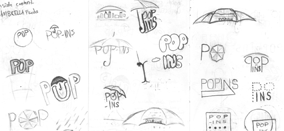 Popins Umbrella Sketches