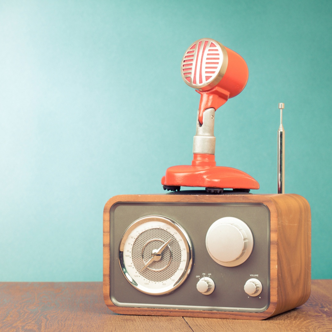 Vintage Radio and Microphone