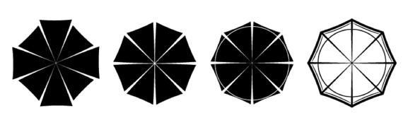 Top View of Popins Umbrellas