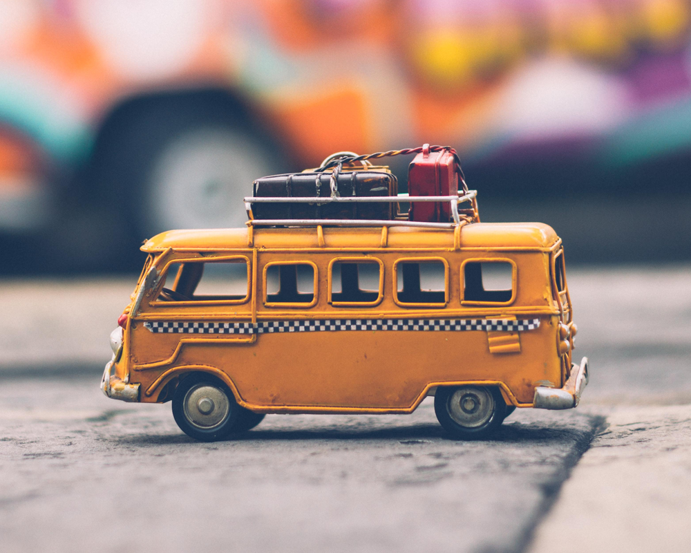 Old time toy taxi van