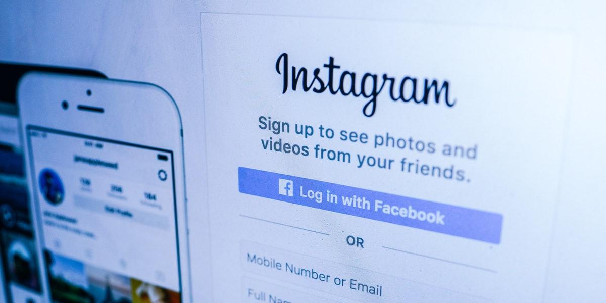 Instagram sign-in screen