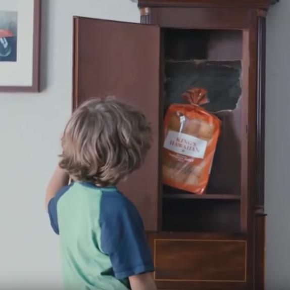 "King's Hawaiin ""False Cabinet"" Super Bowl ad"
