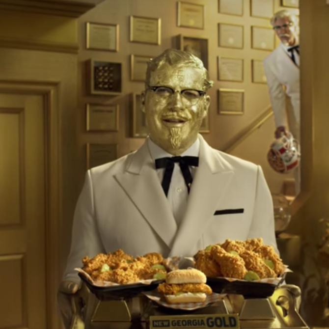 KFC Colonel vs. Colonel Super Bowl ad