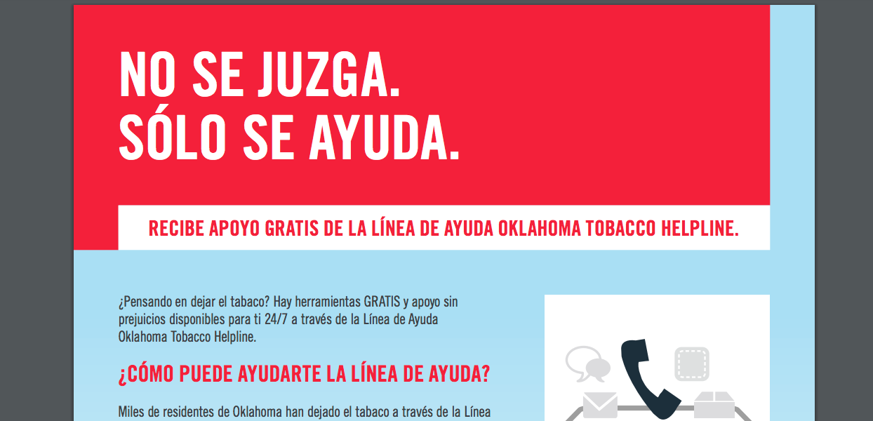 Oklahoma Tobacco Helping Spanish Free Materials
