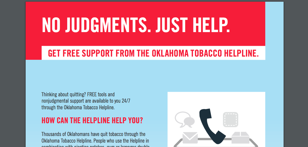 Oklahoma Tobacco Helping Free Resources