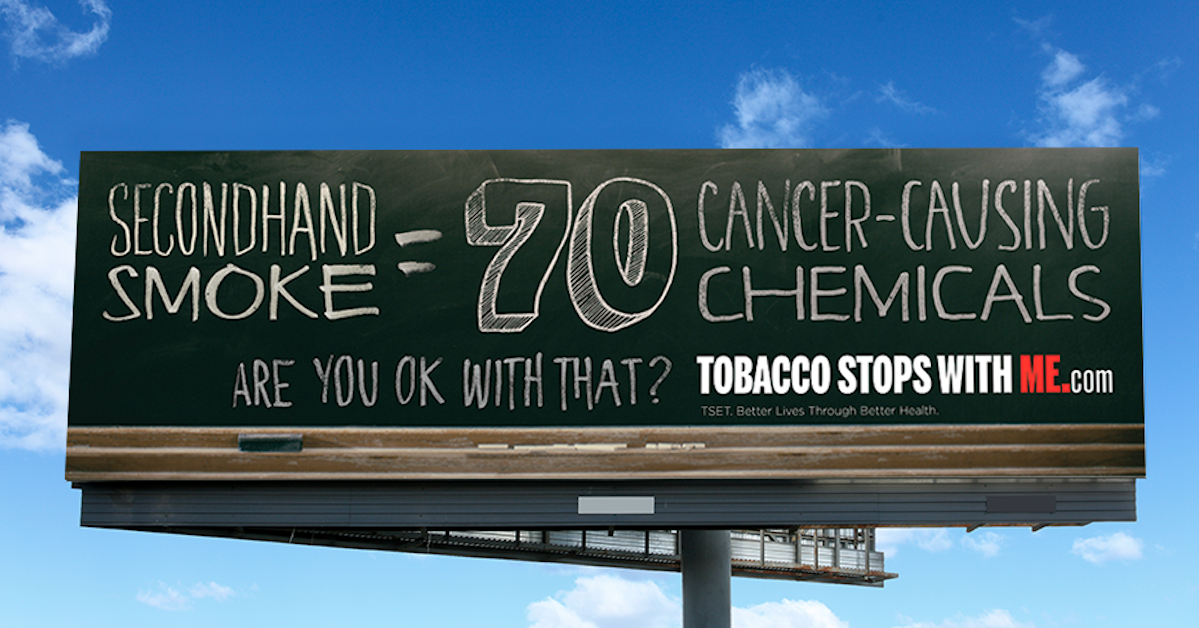 Tobacco Stops With Me Billboard