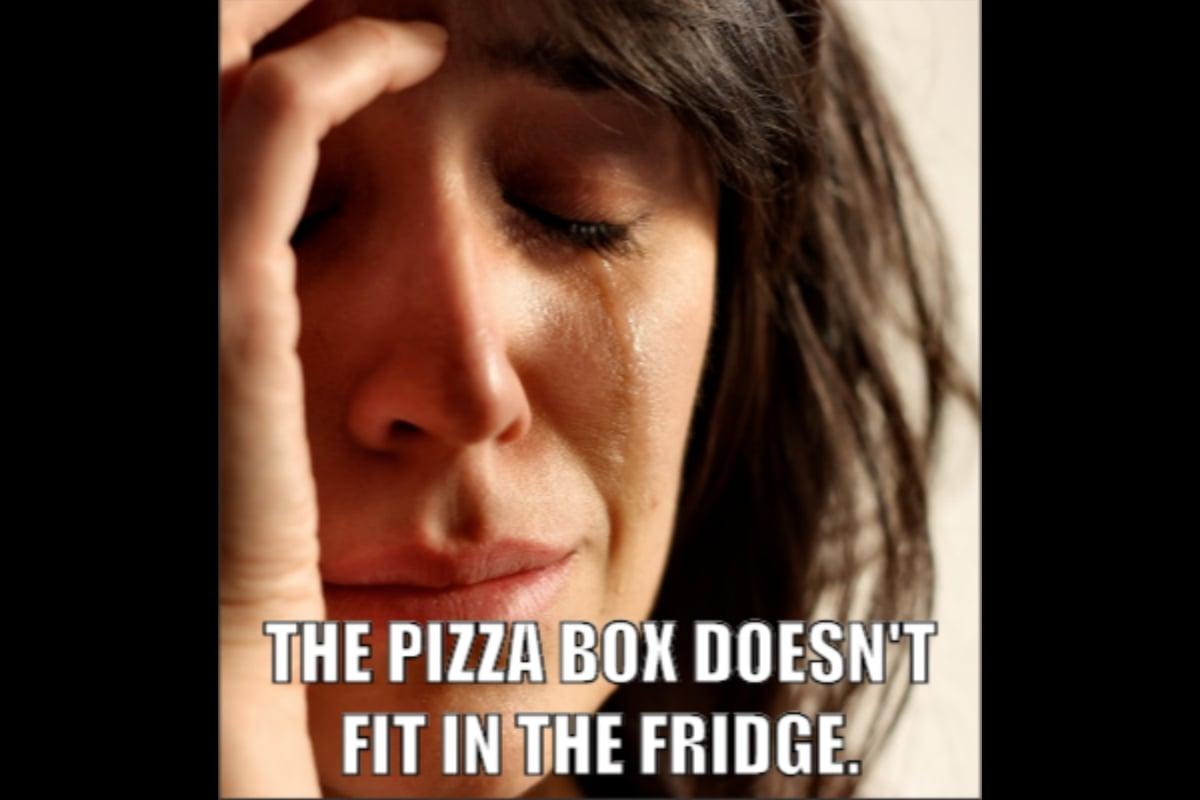 Pizza box meme
