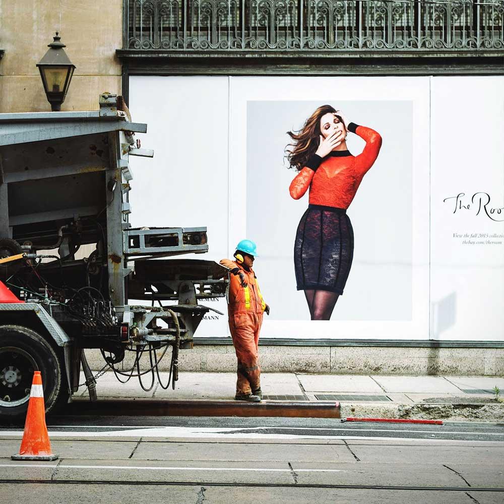 construction man on street