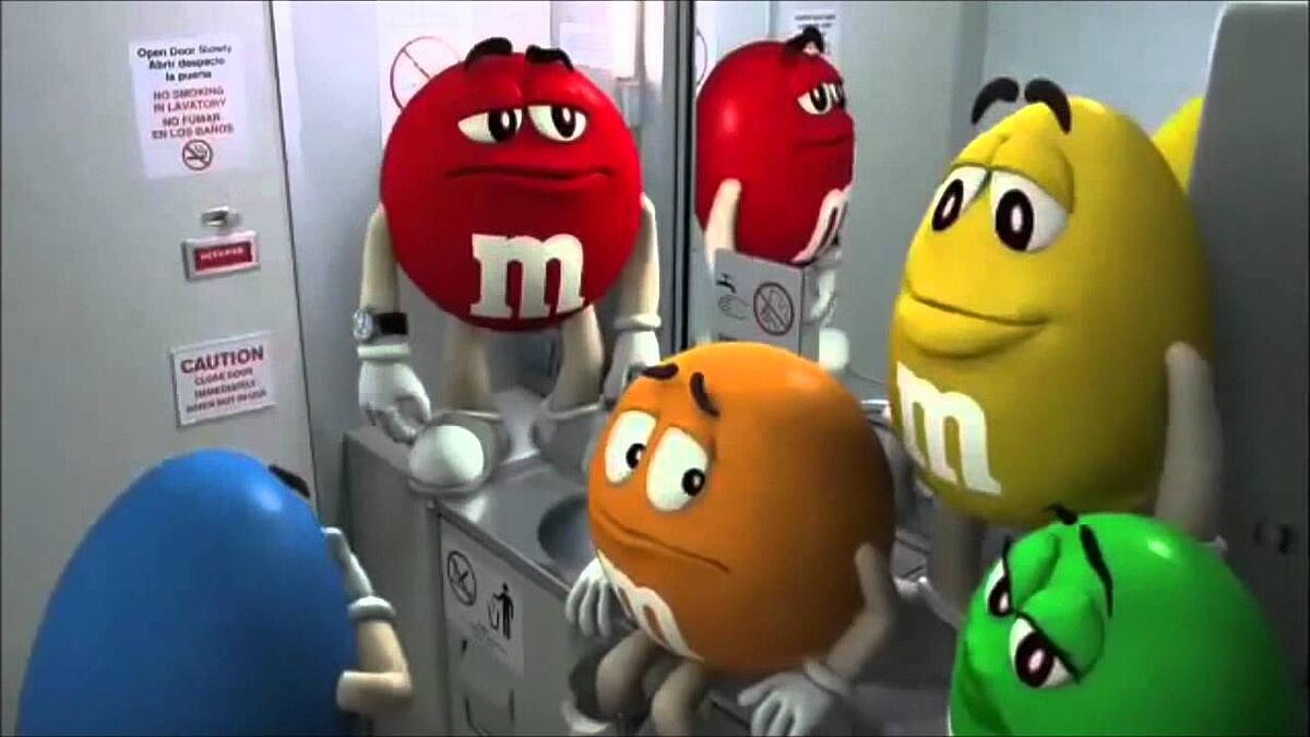 M&M advertisement