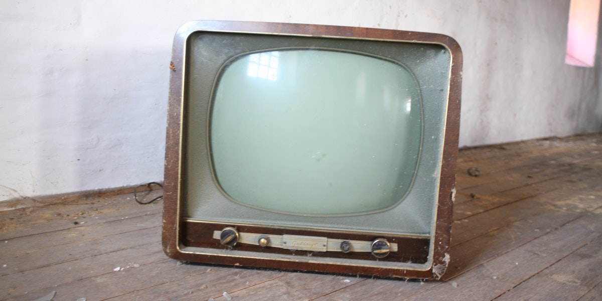 an old TV