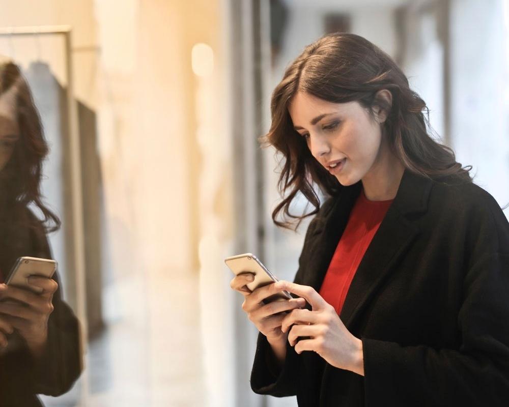 Woman on smartphone